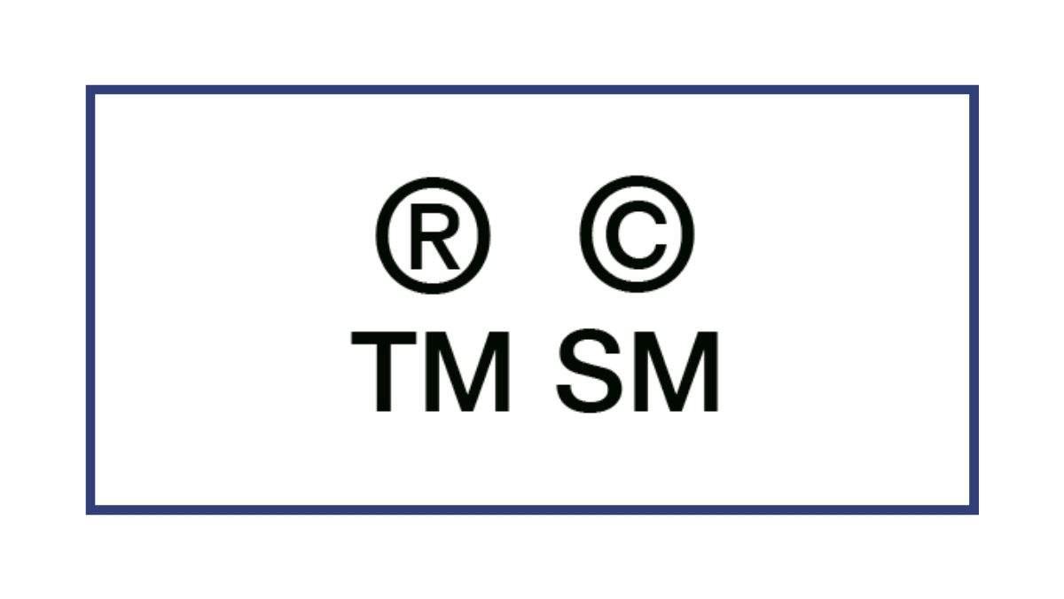 cosa significano i simboli accanto ai marchi