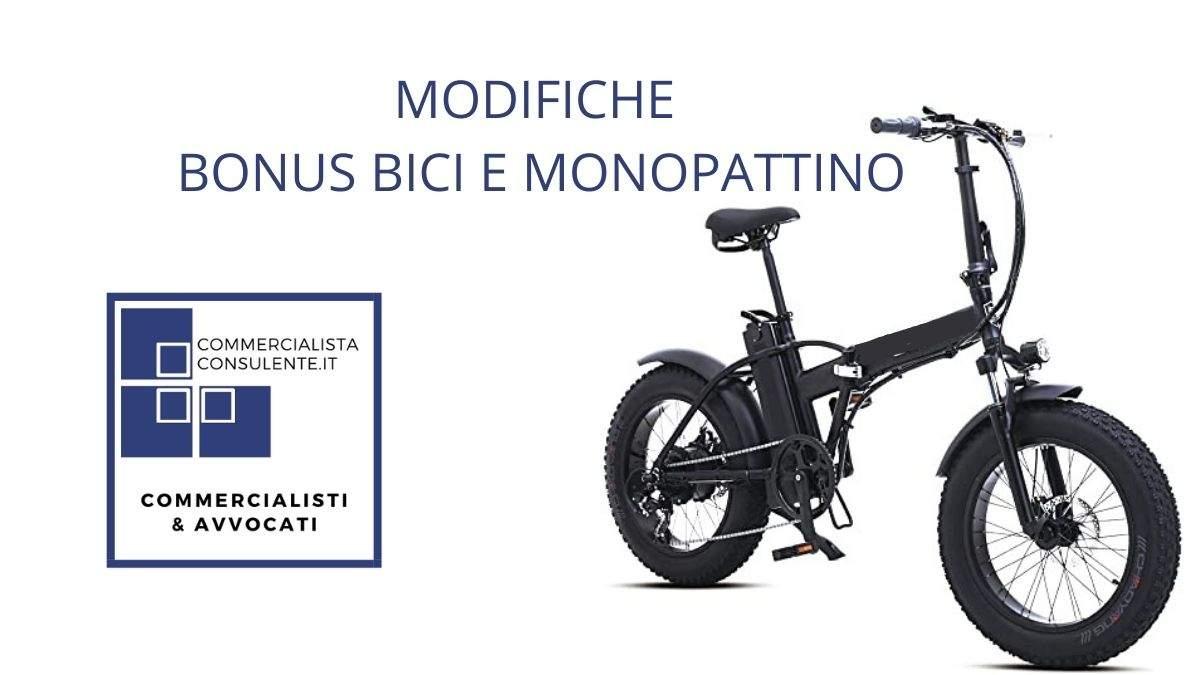 modifiche settembre bonus bici e monopattino