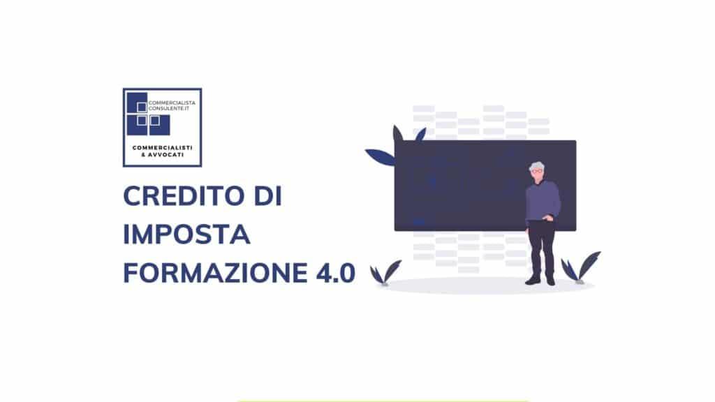 CREDITO DI IMPOSTA FORMAZIONE 4.0
