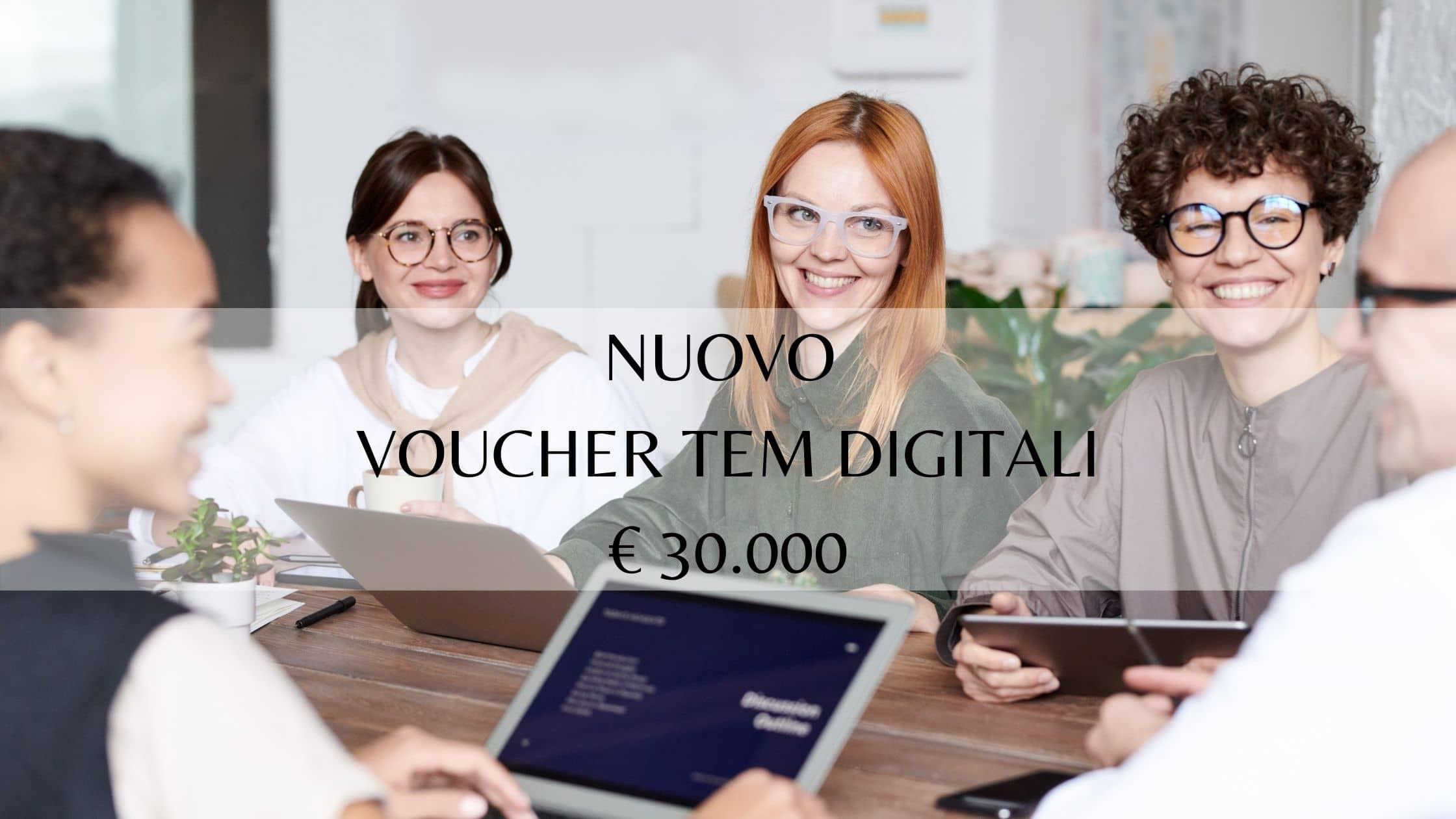 "Nuovo bando ""voucher TEM digitali"""